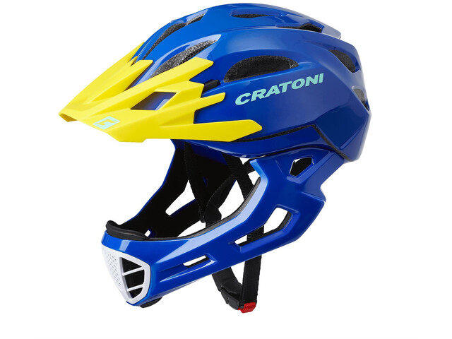 Cratoni C-Maniac Freeride Helmet blue/yellow gloss